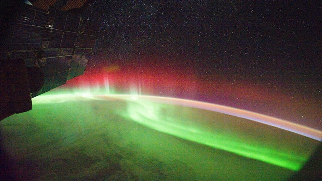 A Rare View of the Red Aurora