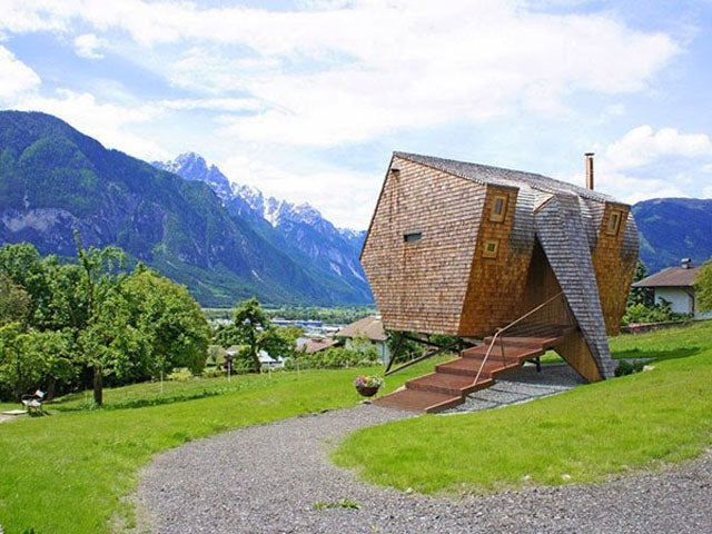 This Alpine House Looks Like It Was Beamed Down From Outer Space