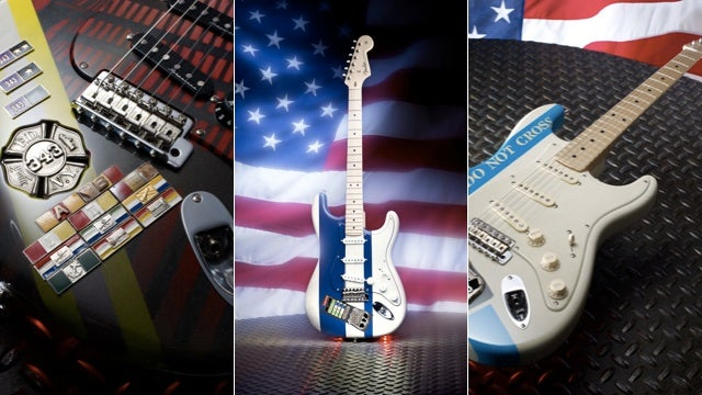 Fender's Custom One-of-a-Kind Strats Provide Subtle Hat Tip for 9/11 Anniversary