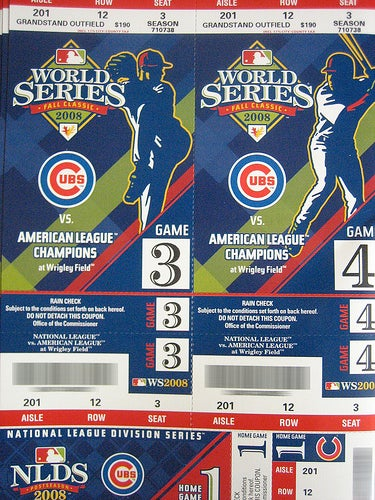 Cubs Scalping Own Tickets Now