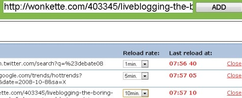 SiteReloader Refreshes Multiple Sites on Timers