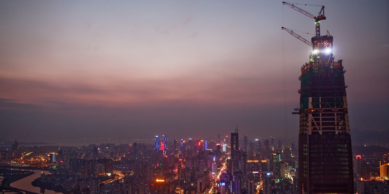 China's New Tallest Building Adds a Floor Every 96 Hours