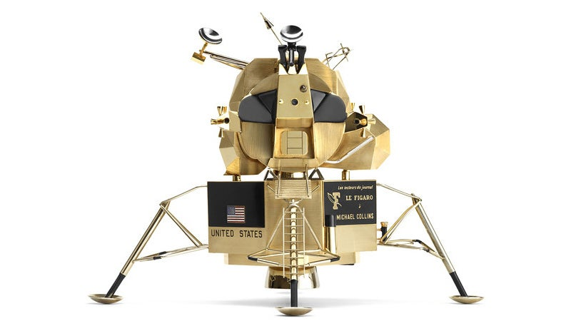 Cartier Gifted the Apollo 11 Astronauts These Awesome Solid Gold Lunar Landers