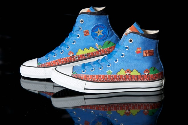 Get A Good Look at Converse's Beautiful Super Mario Bros. Sneakers