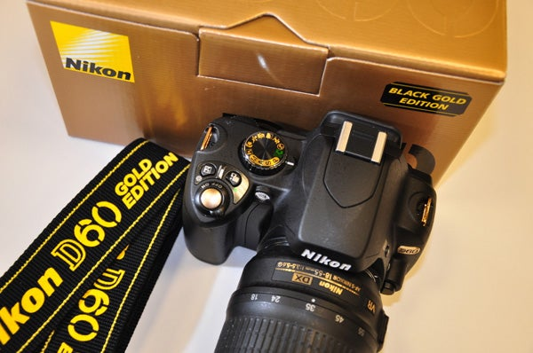 Nikon D60 Black Gold Edition: So Ugly It'd Make Mr. T Cry, If He Could Cry