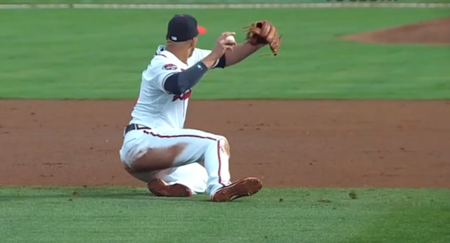 Andrelton Simmons Makes Impossible Throw Look Easy