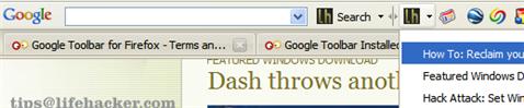Add Lifehacker to your Google Toolbar