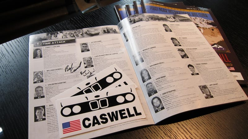 Follow Jalopnik On Facebook, win a Pikes Peak program signed by Bill Caswell