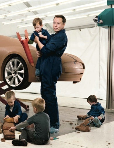 Elon Musk And His Tesla Model S Design Team