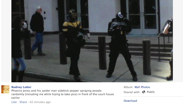 Idiots In Superhero Costumes Reportedly Pepper Spraying Seattle May Day Protesters