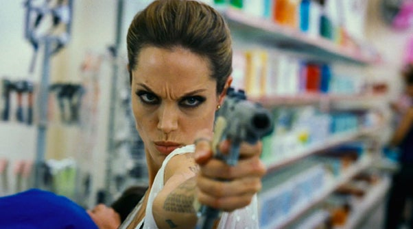 Angelina Jolie & James McAvoy: Sofa King Hot In Wanted