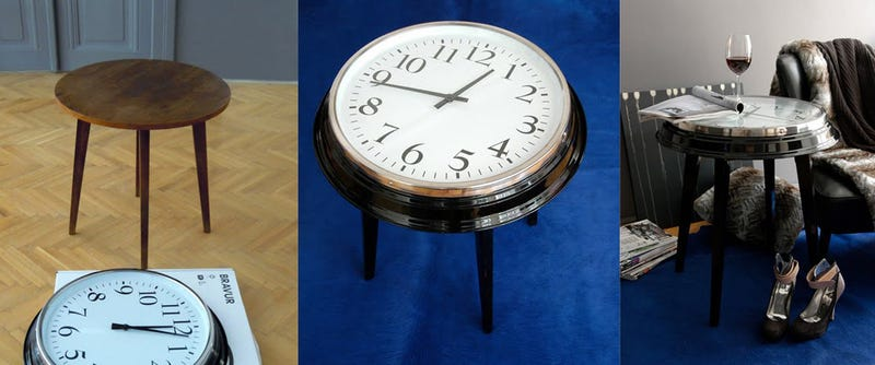Make a Table Clock (Or a Clock Table)