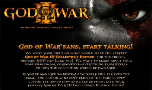 God of War III Survey Hints At PS2 Games On Blu-ray
