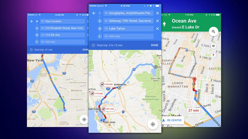 Google Maps For Ios Can Now Navigate To Multiple Destinations