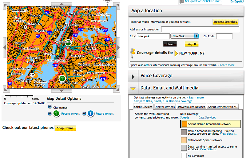 New York City 3G Data Test: AT&T, Sprint and Verizon
