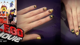 DIY: The LEGO Movie nail art