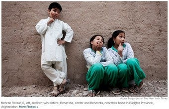 Dressing Afghan Girls As Boys Sets Them Free — For A While