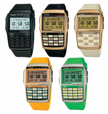 Casio Databank Calculator Watches: Now In Colors Other Than Gray