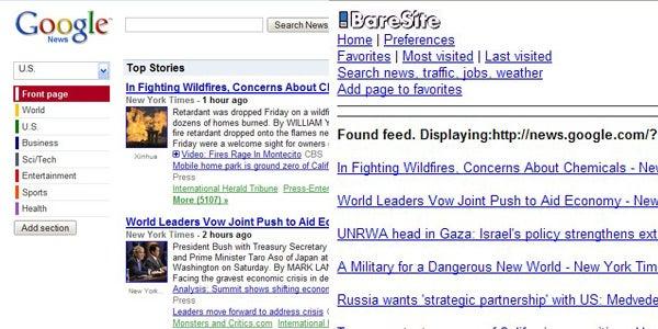 BareSite Strips Web Sites to the Basics