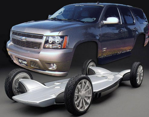 GM May Divorce SUV's From Truck Frames, Why Not Just Go to Skateboards?