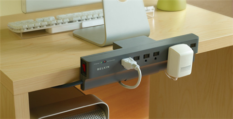 Surge protector, meet cord management