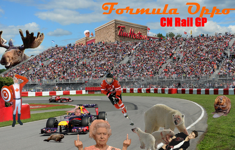 Formula Oppo: The CN Rail Grand Prix of America's Hat, Eh