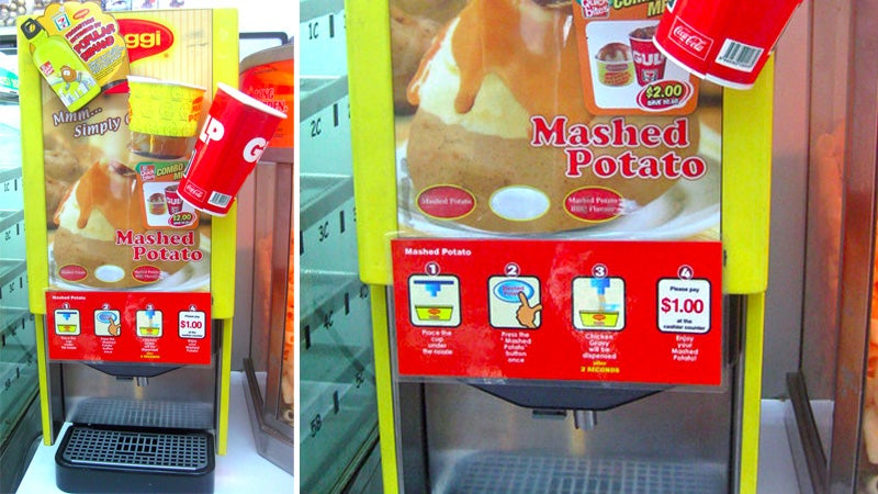 7-11 Now Serves Mashed Potatoes Like a Slurpee