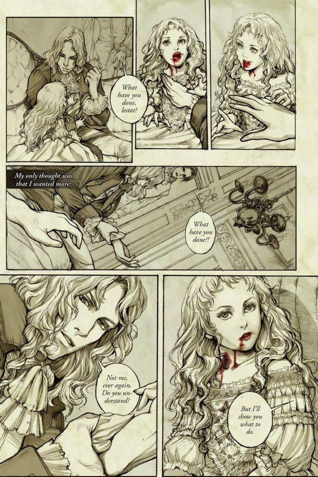 First Glimpse of the Graphic Novel that Retells Interview With a Vampire from Claudia's POV