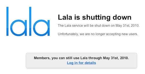 Music Streaming Service Lala Shutting Down in May