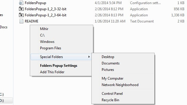FoldersPopup Puts Your Favorite Folders Behind a Middle Click