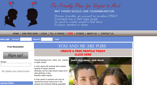 YouAndMeArePure.com: Match.com for Only the Purest of the Pure