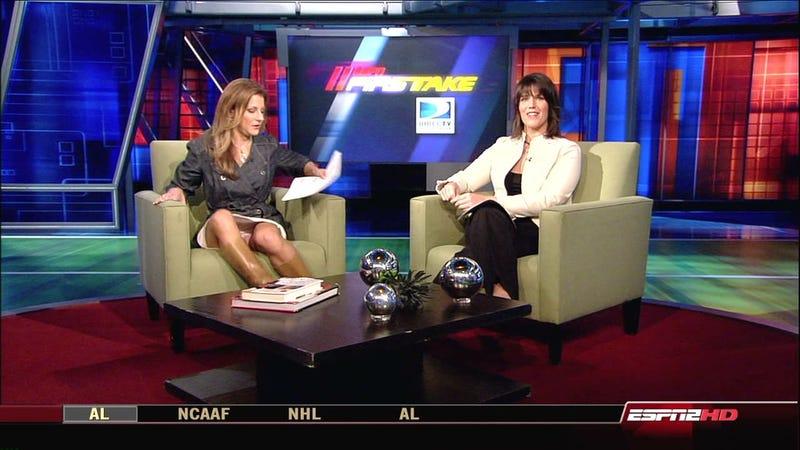 Bonnie Bernstein's Legs Open Momentarily; DVR's Perk Up