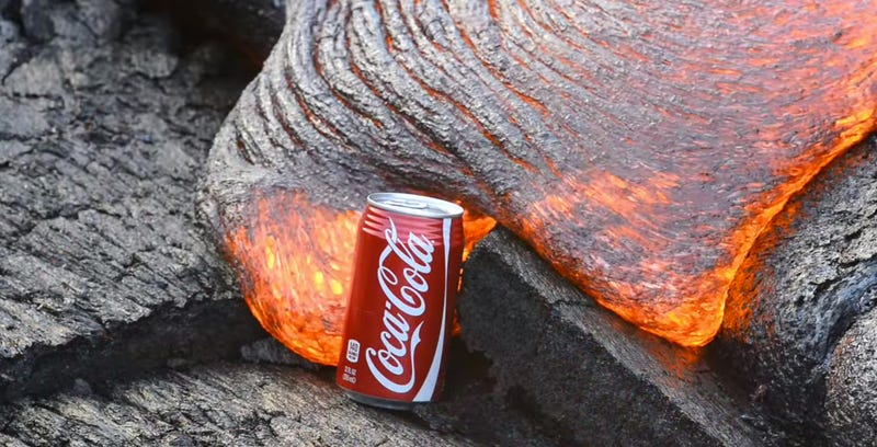 Using a Lava Flow to Boil Coke and Cook Ravioli