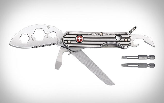 A Climbers' Knife Made by a Pro-Climber: the Wenger Titanium Knife