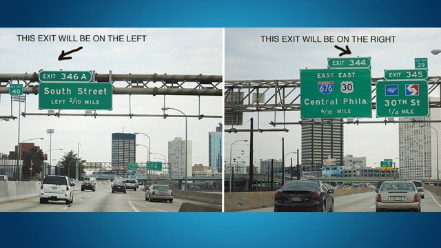 Quickly Tell Whether The Highway Exit Will Be on the Left or the Right