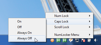NumLocker Disables the Caps Lock Key