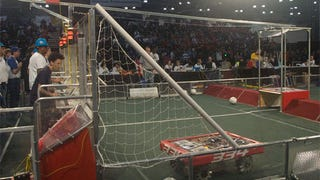 Breakaway: High-Schooler-Designed Robots Play Gauntlet Soccer
