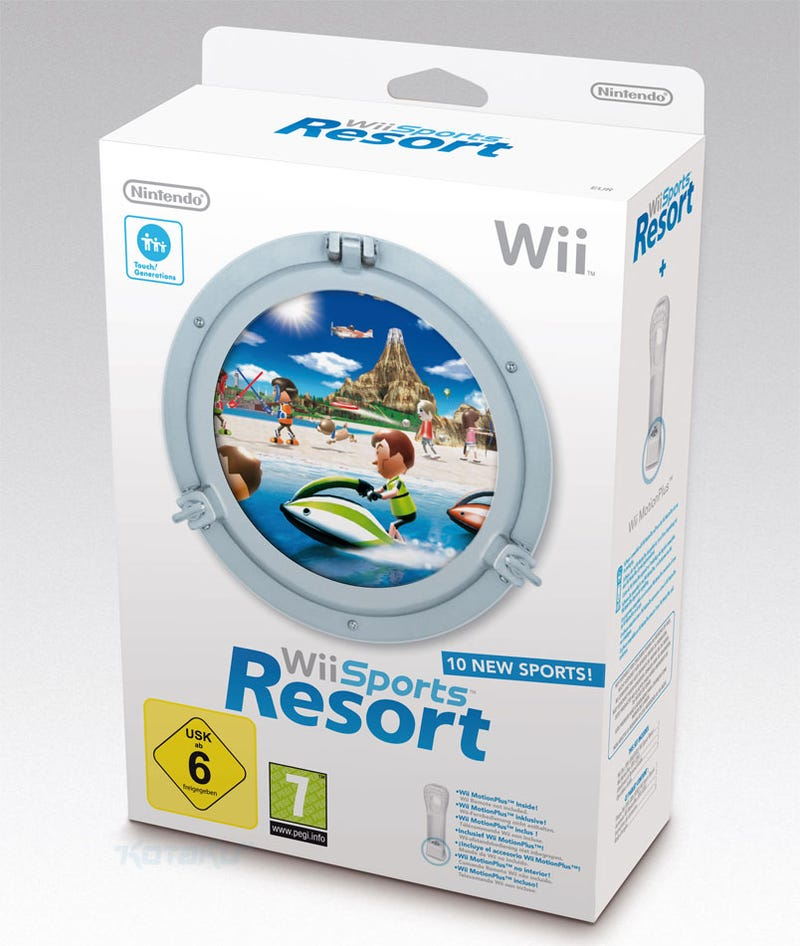 We Much Prefer Europe's Wii Sports Resort Box Art