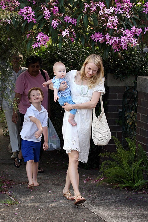 Mischievous Little Bloke Upstages Naomi Watts & Baby