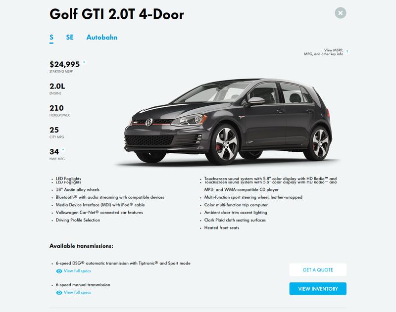 Volkswagen's Website Still Sucks