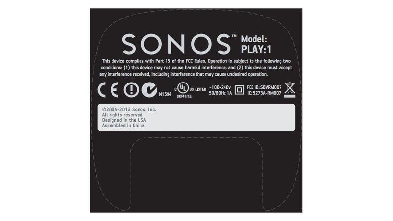 Sonos Play:1 FCC Filing Hints At Bookshelf Speaker