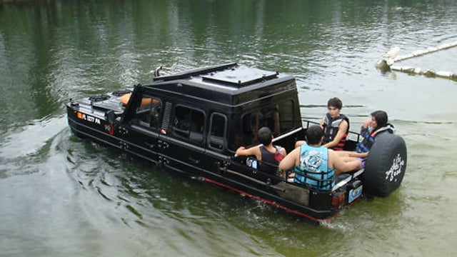 Custom amphibious vehicle on Ebay is more functional than you would expect