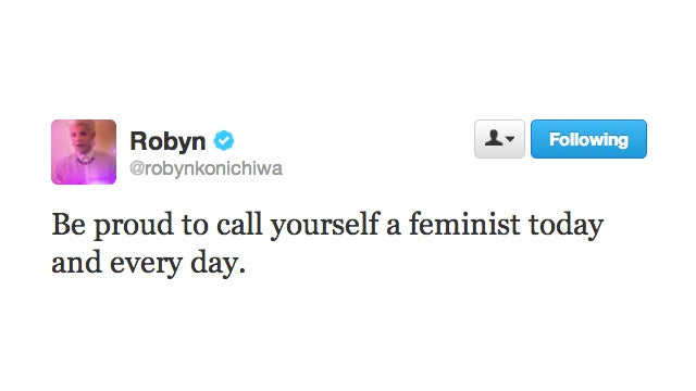 Robyn Is One Pop Star/Magical Wood Sprite Who's Unafraid to Call Herself a Feminist
