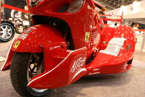 Only In Japan: Crazy Ferrari-Badged Suzuki Hayabusa Trike