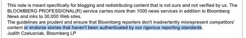 Bloomberg Forbids Mentioning Competitors, or Linking to Them