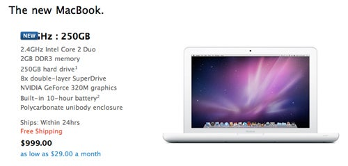 Apple Quietly Bumps Plastic MacBook To 2.4GHz