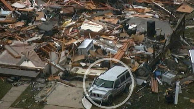 Tornado Levels Woman's House, Spares Her Jeep