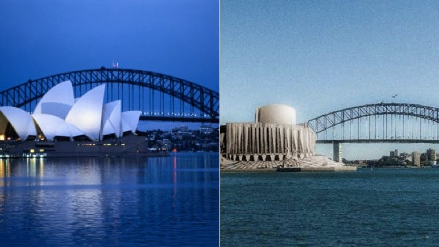 Alternative Versions of Iconic Buildings and Monuments