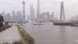 Drone video shows how Shanghai looks like a city from the future