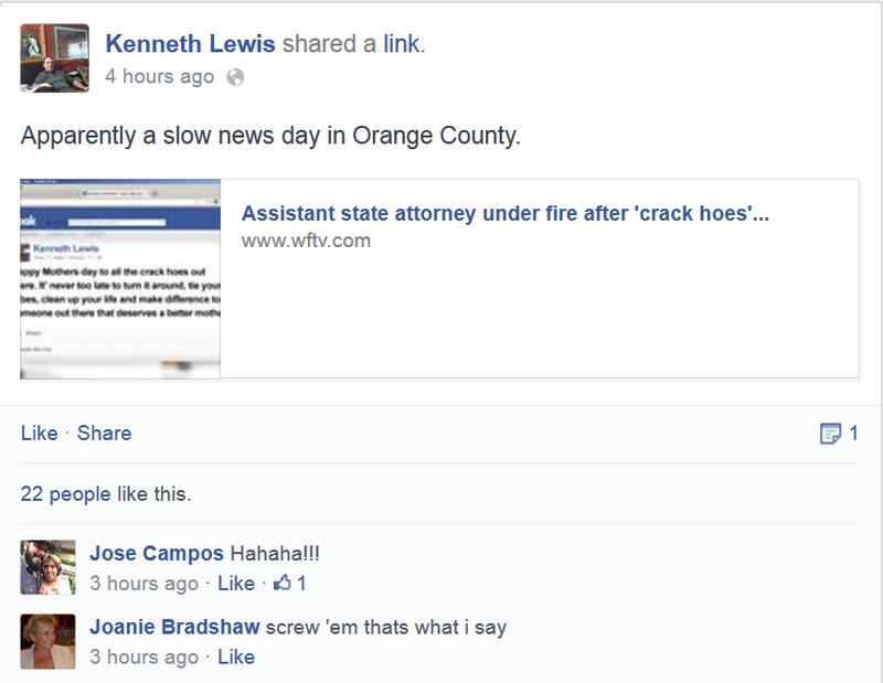 Florida Prosecutor's Facebook Tells 'Crack Hoes' to 'Tie Your Tubes'
